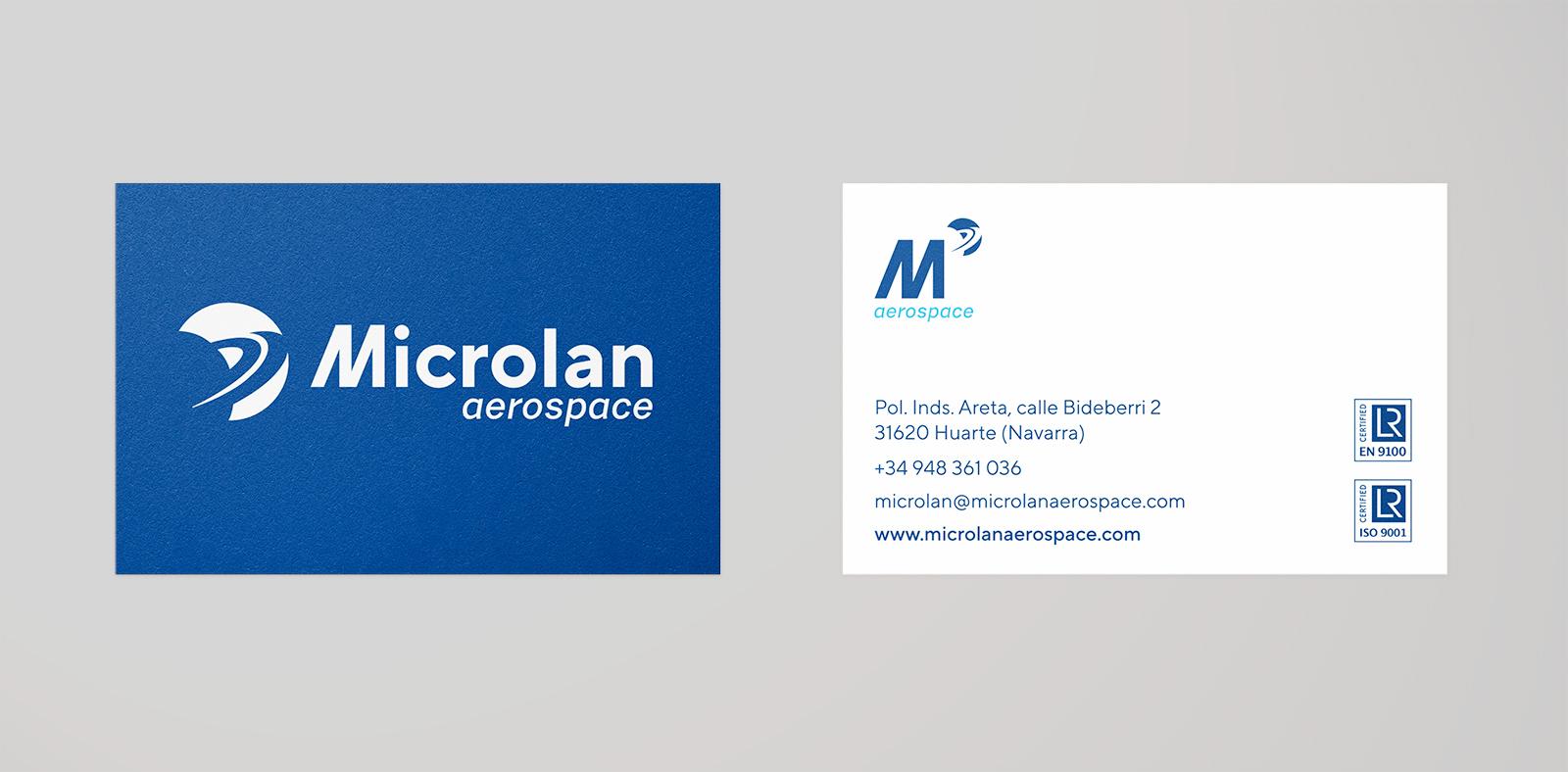 Diseño de identidad Microlan Aerospace