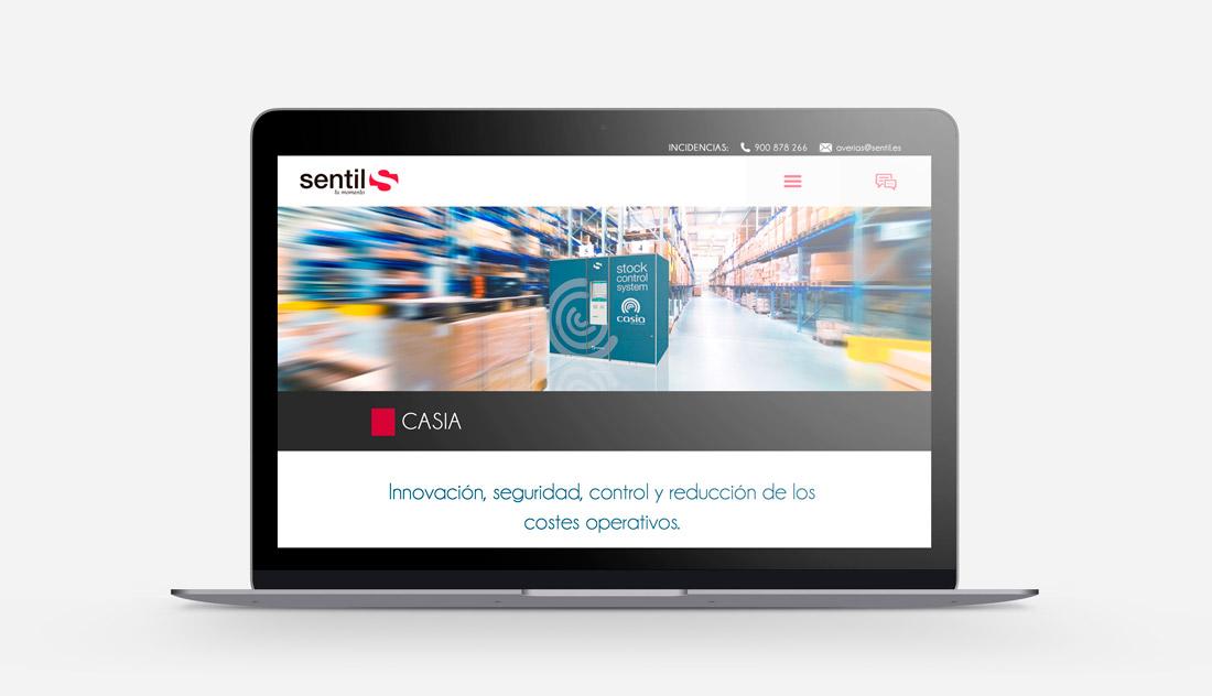 Diseño y desarrollo de la página web de Sentil